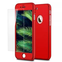 Funda 360 + Vidrio Templado Para Iphone 6 Plus ROJA