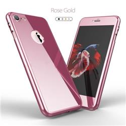 FUNDA 360 IPHONE 7 ROSA METALIZADA GENERICA