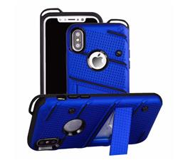 FUNDA TIPO ZIZO IPHONE X AZUL