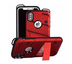 FUNDA TIPO ZIZO IPHONE X ROJO
