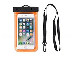 FUNDA SUMERGIBLE AGUA ZIP LOCK UNIVERSAL COLOR NARANJA