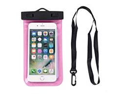 FUNDA SUMERGIBLE AGUA ZIP LOCK UNIVERSAL COLOR ROSA